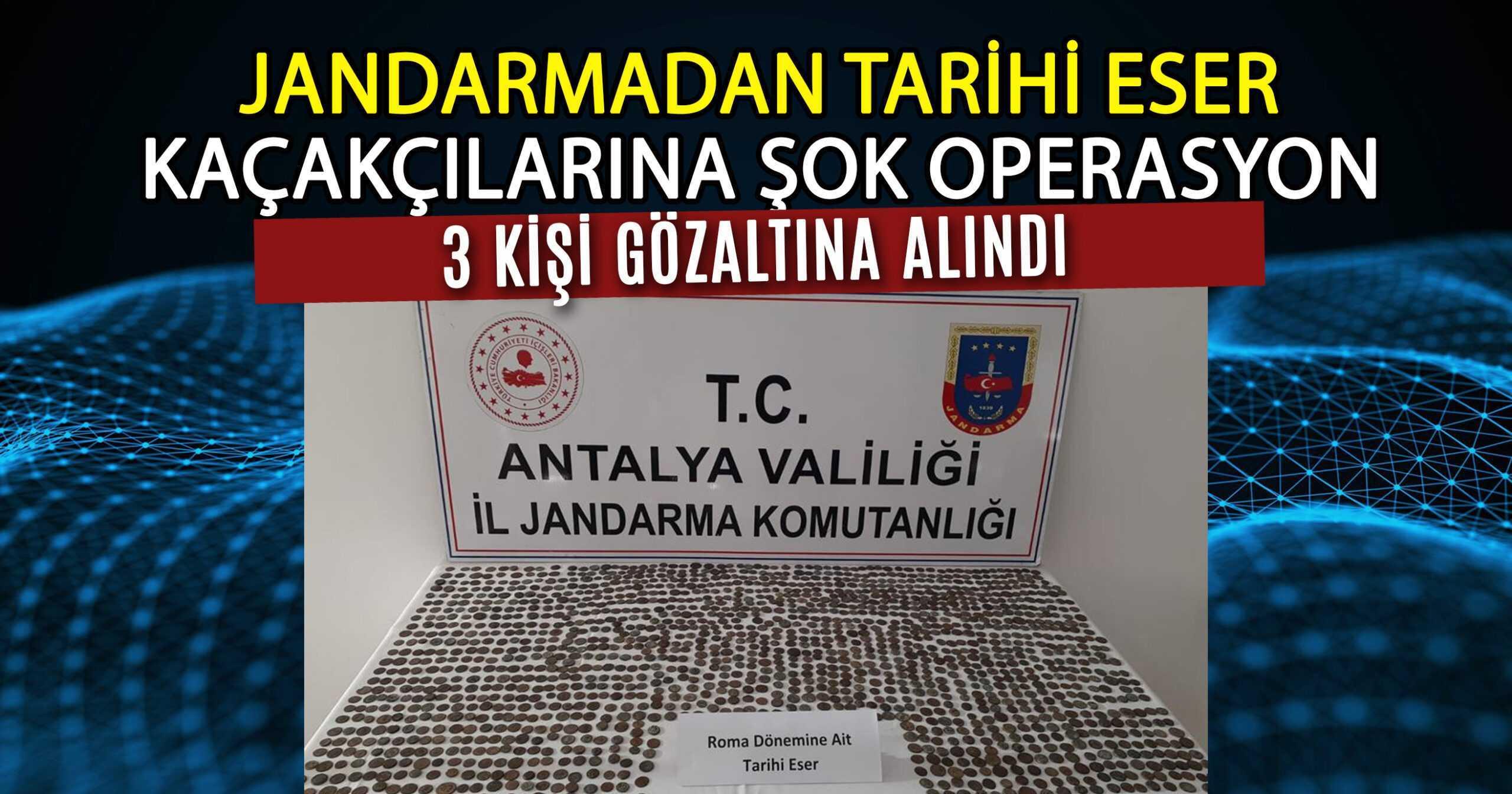 ALANYA'DAN MANAVGAT'A TARİHİ SİKKE KAÇIRMAK İSTEDİLER!