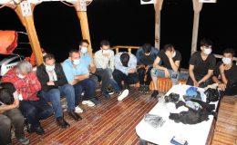 Kıbrıs'a geçmeye çalışan 18 göçmen yakalandı I FOTO GALERİ