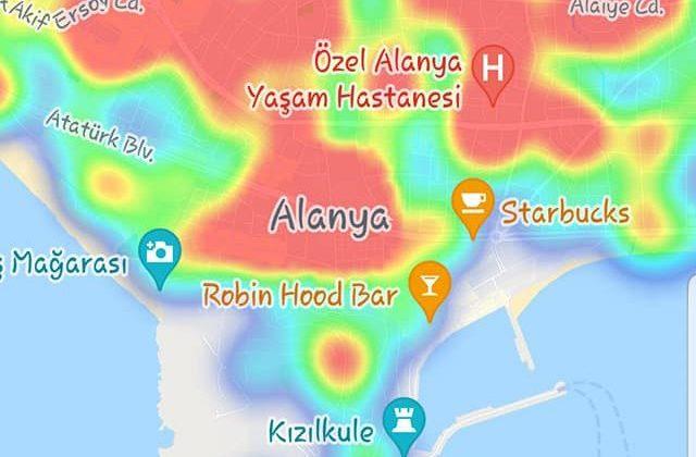 Alanya'nın korona haritası üç günde kıpkırmızı oldu