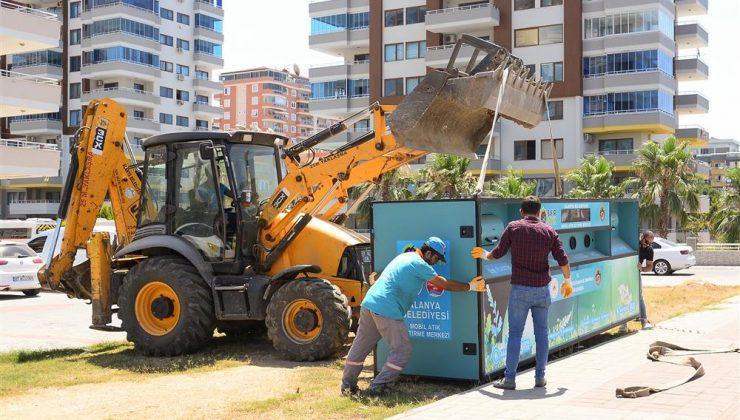 Alanya'da 'Mobil Atık Getirme Merkezleri' yaygınlaşıyor