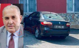 Alanya'da oda başkanının aracına çirkin saldırı